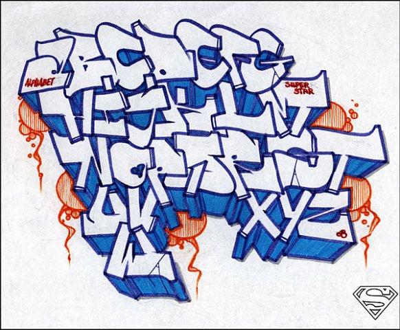 Граффити шрифты